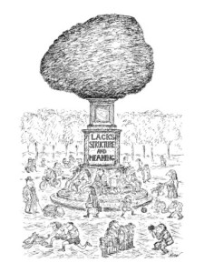 edward-koren-people-in-the-park-frolic-around-a-huge-formless-monument-labeled-lacks-new-yorker-cartoon